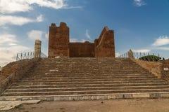 Capitolium and Forum at Ostia Antica Italy Stock Photography