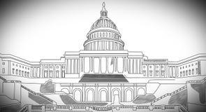 Capitolium handdraw design 1 Stock Image