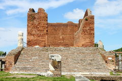 Capitolium in Ostia Antica Stock Images