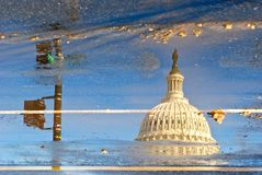 Capitols reflection in winter time Royalty Free Stock Image