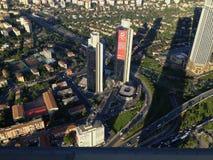 capitolstadscroatia panorama zagreb Royaltyfria Bilder