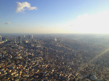 capitolstadscroatia panorama zagreb Royaltyfri Foto
