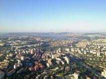 capitolstadscroatia panorama zagreb Royaltyfria Foton