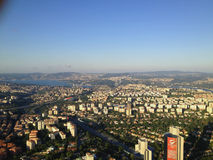 capitolstadscroatia panorama zagreb Arkivfoton