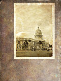 capitoly cru de carte postale de la Havane Images libres de droits
