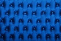 Capitone azul textura adornada de estofamento da tela Imagem de Stock Royalty Free