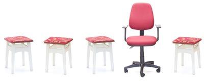 capitonnage normal de sujet de bureau de cuir de meubles de fauteuil Photos libres de droits