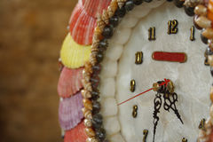 Capiz Clock. Hand-made clock using shells and capiz Royalty Free Stock Images