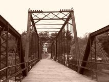 Caplinger Mills Bridge Wildlife Area Imagem de Stock