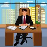 Capo, ambiente di lavoro, direttore, CEO, illustrazione di vettore Immagini Stock