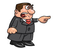 Capo arrabbiato che grida 2 illustrazione di stock