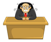 Capo arrabbiato, ufficio, affare Immagine Stock Libera da Diritti