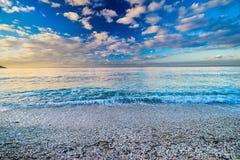 Capo Bianco Beach, Portoferraio, Elba Island, Italien lizenzfreies stockfoto
