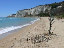 Capo Bianco. Cliffs over the sea in Sicily Stock Image