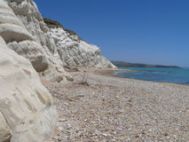 Capo Bianco. Cliffs over the sea in Sicily Stock Photo