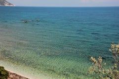 Capo Bianco coast, Elba Island. Capo Bianco coast in the north of Elba Island, near Portoferraio, Italy Stock Photos