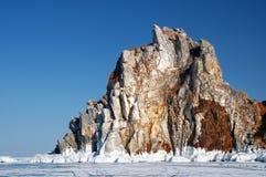 Capo Burhan sulla costa ovest dell'isola di Olkhon Fotografia Stock Libera da Diritti