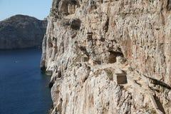 Capo Caccia, Alghero Sardegna. View of the sea of Sardinia from Alghero royalty free stock image