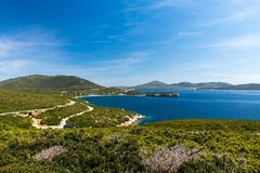 Capo Caccia, Alghero, Sardinie στοκ φωτογραφία