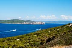 Capo Caccia Cliff Alghero Arkivbilder
