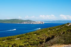 Capo Caccia Cliff Alghero Stock Images