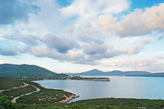 Capo Caccia clouds Stock Images