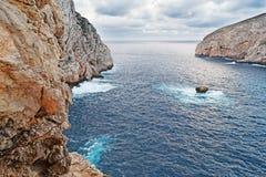 Capo Caccia coastline Stock Images
