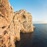 Capo Caccia dichtbij Alghero, Sardinige, Italië Stock Fotografie