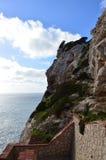 Capo Caccia dichtbij Alghero, Sardinige, Italië Royalty-vrije Stock Fotografie