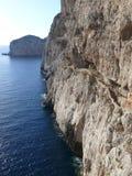 Capo Caccia. Path to the cave Grotta di Nettuno in Sardinia Royalty Free Stock Image