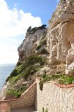 Capo Caccia pr?s d'Alghero, Sardaigne, Italie image stock