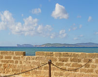 Capo Caccia seen from Alghero Stock Image