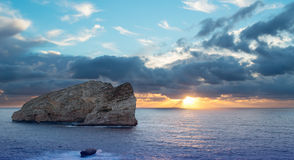 Capo Caccia sunset Stock Images