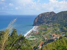 Capo Calava, Sicily, Italy. SEPT 5, 2016: Capo Calava is popular recreational tourist center royalty free stock photos