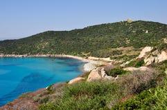 Capo Carbonara, Villasimius, Sardinige, Italië Stock Afbeelding