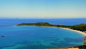 Capo Coda Cavallo. Is a beautiful place in the north of Sardinia Stock Photography
