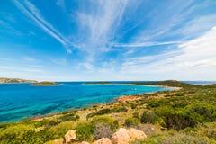 Capo Coda Cavallo coastline Royalty Free Stock Image