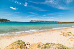Capo Coda Cavallo shoreline on a clear day Royalty Free Stock Images