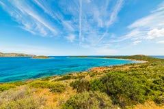 Capo Coda Cavallo Shoreline Stock Image