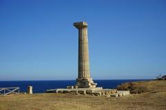 Capo Colonna - tempio di Era Lacinia immagine stock libera da diritti