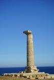 Capo Colonna - tempio di Era Lacinia fotografia stock
