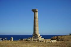 Capo Colonna - tempio di Era Lacinia fotografie stock libere da diritti