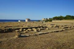Capo Colonna - tempio di Era Lacinia immagini stock