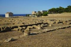 Capo Colonna - tempio di Era Lacinia fotografie stock