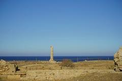 Capo Colonna - tempio di Era Lacinia immagini stock libere da diritti