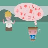 Capo contro l'impiegato royalty illustrazione gratis