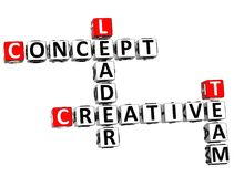 capo creativo Crossword di concetto 3D Immagine Stock