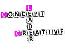 capo creativo Crossword di concetto 3D Fotografie Stock