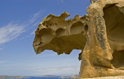 Capo d'Orso rock head royalty free stock photos