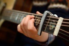 Capo da guitarra Foto de Stock